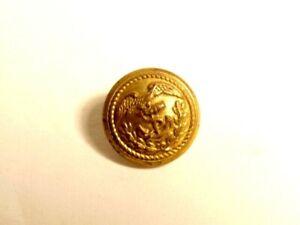 vintage brass Coast Guard uniform button with eagle a top an anchor
