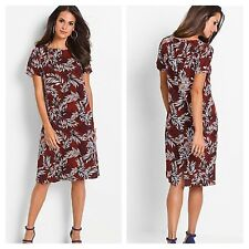 Kaleidoscope Bonprix Size 10 Botanical Print Tunic DRESS Holiday Casual £30 Fab