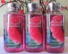 3 Bath & Body Works Shower Gel 10 oz Midnight Pomegranate