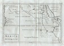 1779 Ancient Ethiopia Eritrea Nile Africa Genuine Antique Map Cellarius