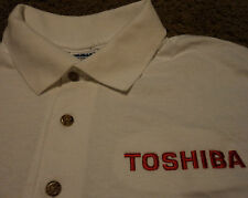 NEW Mens ~ TOSHIBA ~ Copier Fax Laptop Printer ~ Employee Polo Shirt NWOT MED
