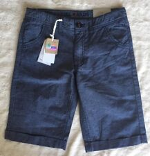 Dodipetto Collection Boy's Navy Striped Shorts 10A 140 Adjustable Waist New B1