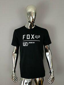 New Mens Fox Black Graphic T Shirt Size S
