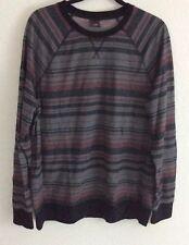 TONY HAWK Mens Sweater Size XXL Black/ Gray Burgundy Long Sleeve Stripe NEW (th1