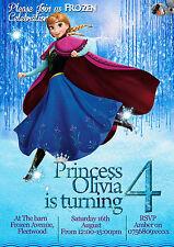 Invitation Anniversaire Personnalisable Princesse Congelée Anna 8 cartes (A6)
