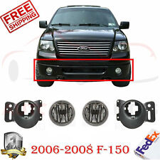 Front Fog Lights + Fog Light Bracket LH & RH For 2006-2008 Ford F-150