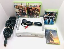 New listing Xbox 360 White Bundle-4 Games & Cables (Tested ) Gs#1