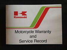 KAWASAKI Motorcycle WARRANTY & service record (1980-86) KZ1000R ELR/Z1100R RARE