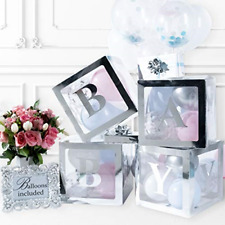 Baby Shower Decorations & Gender Reveal Party Supplies 52 Piece Premium Silve...