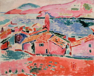 Henri Matisse View Of Collioure Giclee Canvas Print Poster Reproduction