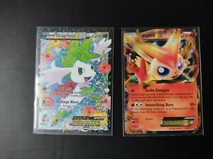 Lot Carte Pokémon Victini EX Shaymin EX 24/113 RC21/RC25 Legendary Treasures