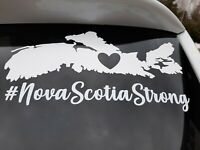 Car window Decal heart cutout Nova Scotia strong #nsstrong cape breton sticker 4
