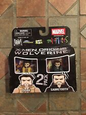 Marvel Minimates LOGAN & SABRETOOTH X-Men Wolverine Origins Movie Wave 26