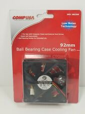 CompUSA 92mm Ball Bearing Case New Old Stock Computer Cooling Fan