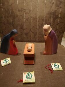 Ostheimer Krippen Figuren Maria Josef & Krippe mit Kind Neu mit Etikett