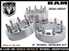 "8x6.5 Wheel Adapters 2"" Fits RAM Chevy & Hummer 8 Lug Heavy Duty Wheel Spacers"