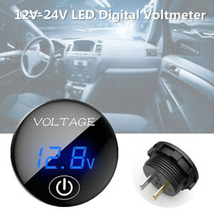 12V-24V LED Digital Voltmeter Car Auto Direct with Touch Switch Gauge Volt Meter