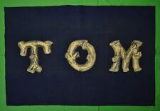 Navy Felt 'TOM' Banner