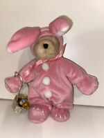 "North American Bear Company Easter Muffy Vanderbear Pink Bunny Costume 8"" Plush"
