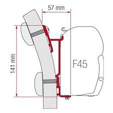 98655-249: Fiamma F45 Awning Single Mounting Bracket - 15 Degree Angle