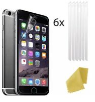 6 X Clear Plastic Screen Guard LCD Protector Film Layer For Apple iPhone 8