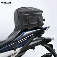 Waterproof Motorcycle Tail Bag Moto Pannier Rear Seat Bags Extended Saddlebags