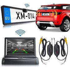 """Einparkhilfe Nummernschild Rückfahrkamera + 4,3"""" Monitor + wireless Transmitter"""
