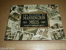History of Mannington Mills Salem New Jersey NJ vinyl tile flooring 1915-2000