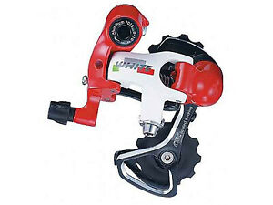 Microshift 10 Speed Rear Derailleur   - WhiteRed