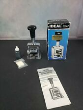 IDEAL 32067 Rubber Date Stamp Metal Tested Works.