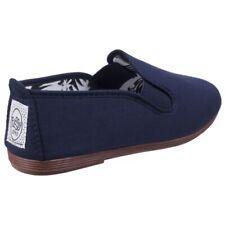 Ladies Flossy Arnedo Navy Canvas Espadrilles PUMPS Slip-on Shoes EU 38