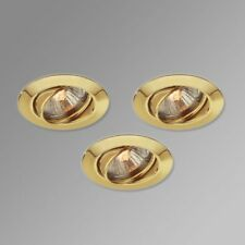 Set Of 3 Gold Down lighters With Lamps. CHEAPEST IN UK FOR NEW ITEM