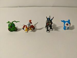 Digimon Wormmon Demiveemon halsemon raidramon lot 4  Mini Figure toy figures
