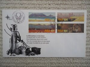 1975 South Africa TOURISM Illustrated Cover, with stamps SG388-391