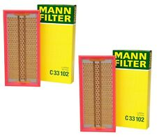 Pair Set of 2 Engine Air Filters For Mercedes W140 W124 R129 1992-1999 Mann