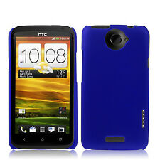 CUSTODIA Back COVER Case plastica RIGIDA BLU per HTC One X Nuova