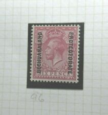 BRITISH BECHUANALAND POSTAGE STAMP SG96 KGV SIX PENCE RED VIOLET  UNUSED