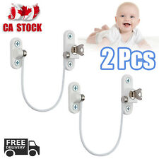2PCS Window Door Restrictor Child Baby Safety Security Lock Cable Catch Wire CA