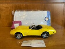 New ListingFranklin Mint 1975 Corvette 1/24th scale, yellow