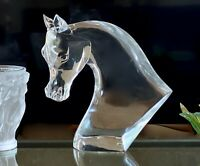 Lalique French Crystal Horse Head MSRP $37,000 Authentic Mint