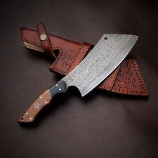 Damascus Chef  Knife Handmade  - 11 Inches Micarta Handle Cleaver    JNR1031