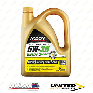 NULON Full Synthetic 5W-30 EURO Engine Oil 5L for VOLKSWAGEN Beetle