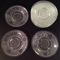 """Anchor Hocking Crystal Clear Sandwich Glass 5 3/4"""" Saucer(s)"""