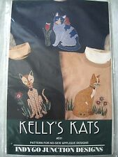 Kelly's Kats #531 Pattern for No-Sew Applique Designs Cats Indygo Junction Desig