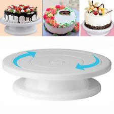 28CM Rotating Cake Icing Decorating Revolving Kitchen Display Stand Turntable os