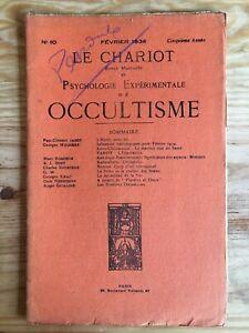 Le Chariot n°10 / Février 1934 revue Occultisme Astrologie Philosophie