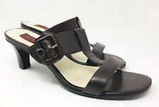 John Romaine Women's Brown Leather Upper Sandals Size 9.5 W