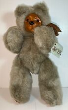 COOKIE ~Raikes Bear ~12 inches ~TAGS ~Wood Face And Feet ~ #660330 ~1989