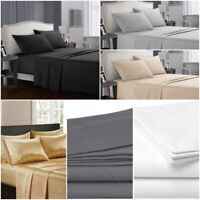 Egyptian Comfort Queen or King Twin Full 100% Cotton Bed Sheet Deep Pocket Set