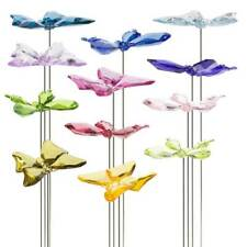"""Butterfly Floral Pick Garden Decor Plant Poke 3x12"""" - Choose from 12 colors"""